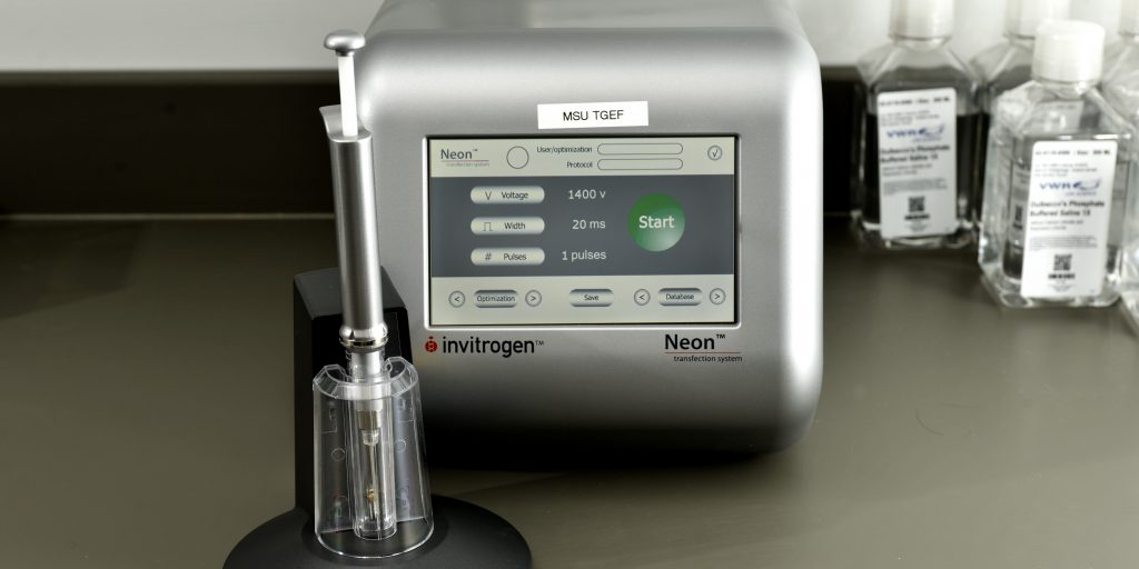 Photo of front of Neon equipment on lab bench